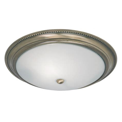 Flush Ceiling Lights Endon Lighting 91121 Brass Semi Flush Ceiling Light