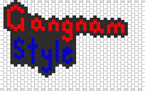 gangnam pattern gangnam style peyote stitch bead pattern peyote bead