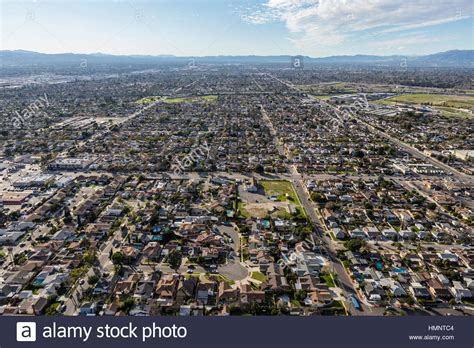 refacing san fernando valley aerial view of the sun valley community in the san