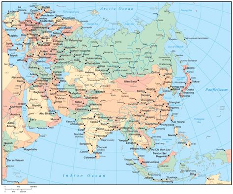 asia map with cities asia map with capitals