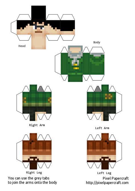 Story Papercraft - papercraft minecraft story mode axel
