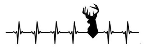 Deer Heartbeat deer beat deer car decal by cutesoutherngifts