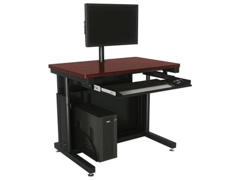 Deluxe Height Adjustable Computer Table Ctl Variable Height Computer Desk