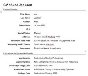 create a cv template write a resume free learnhowtoloseweight net