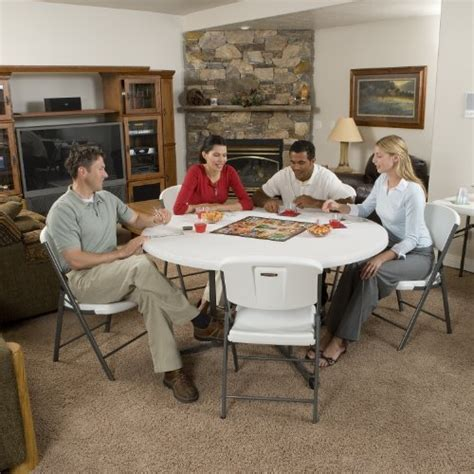 48 round table fite how many lifetime 25402 commercial round fold in half table 5 feet