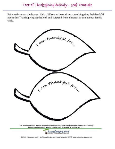 tree of thanksgiving leaf template helping young