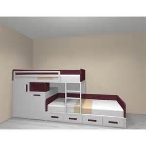 lits superpos 233 s lit 190x90 armoire