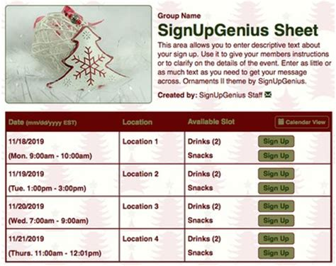secret sign up sheet new themes