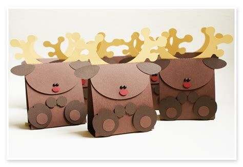 reindeer gift boxes christmas pinterest