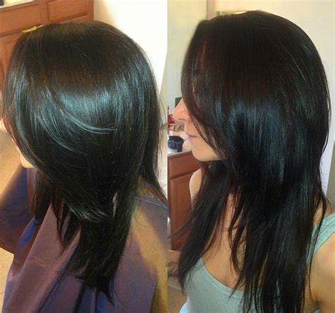 feathered and layered hairstyles on dark brown hair dark brown long layers haircut hair pinterest shape