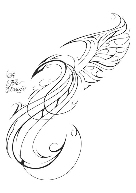 simple phoenix tattoo designs design by patrickbrown on deviantart