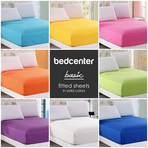 twin bed sheet solid color fitted sheet twin full queen king 100 cotton