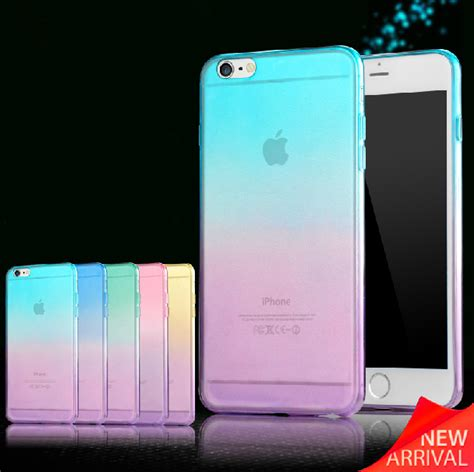 Colorant For Iphone 5c0 Clear 2015 fashion colors gradient tpu clear transparent for apple iphone 6s 6 4 7 back