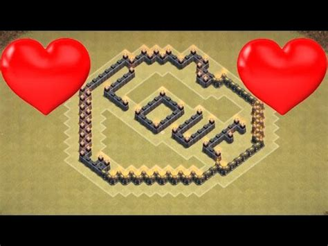 coc layout heart clash of clans new heart base design for any town hall