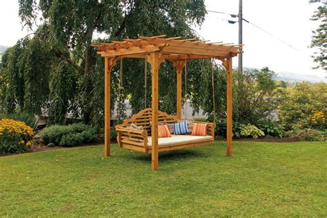 wood pergola designs amish cedar wood pergola pergolas amish outdoor structures 45601