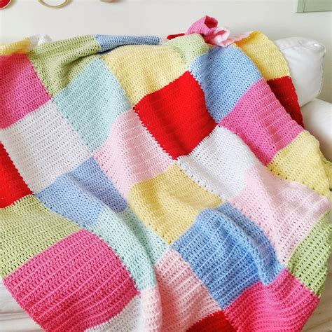 Crochet Patchwork Blanket - hopscotch patchwork crochet blanket