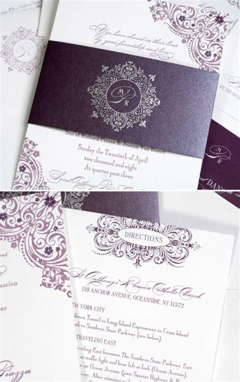purple wedding invitations purple wedding invitation archives the wedding specialists