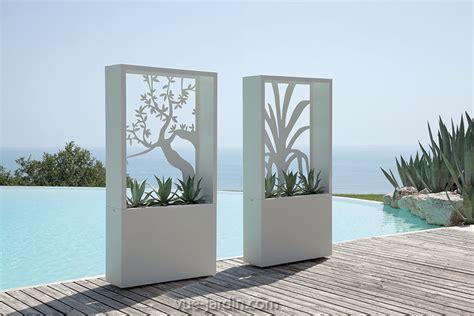 Brise Vu Interieur by Brise Vue Design Avec Silhouette D Arbre En Acier Blanc Ou