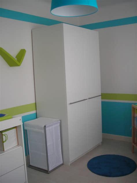 chambre enfant bleu et vert chambre vert anis bleu turquoise