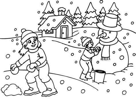 Free Coloring Pages Of Winter Theme Winter Coloring Pages