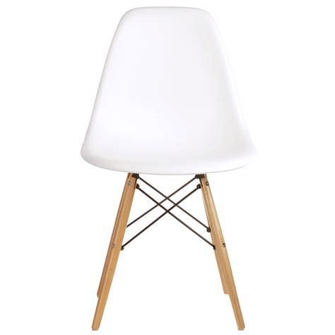 replica eames chair blush event artillery set of 2 eames style dsw molded white plastic dining shell