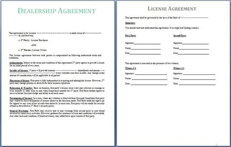 signed agreement template a dealership agreement is signed between two the supplier and the dealer the dealer is