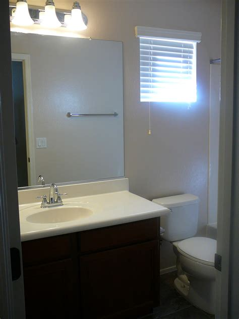 rent bathroom focal point styling rental restyle small bath space