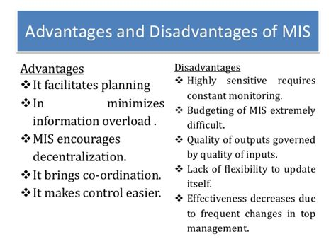 Benefit Of Change Mba To Ms In Mis information systems
