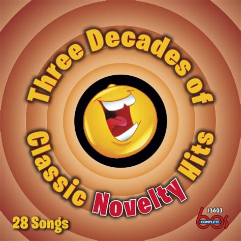 three hits various three decades of classic novelty hits complete 60s records