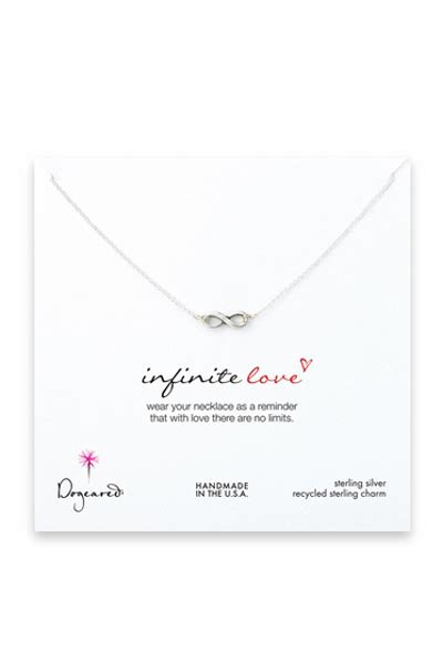 dogeared infinity dogeared infinite sterling silver necklace think