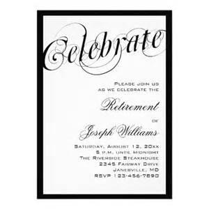 black white retirement invitations colors retirement and