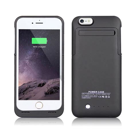 Iphone 6 6s Plus Powerbank Power Bank Armor Cover Casing 8000mah for iphone 6 6s 6 6s plus power bank 3500mah rechargeable battery box stand ebay