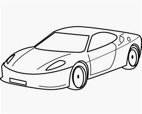 aneka sketsa gambar mewarnai mobil kartun bahasa pendidikan bahasa pendidikan