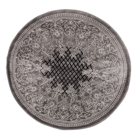 lavish home royal garden grey 5 ft x 5 ft area rug