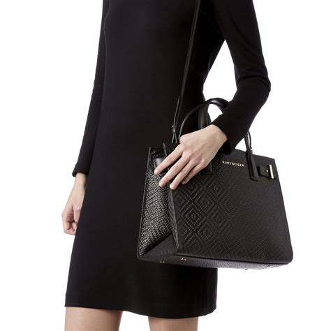 Nine Wests Dreamweaver Woven Tote by Woven Tote Black Tote Bag By Kurt Geiger