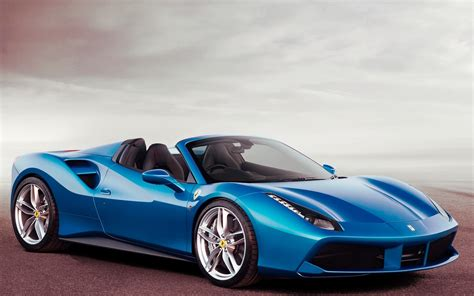 Blue Ferrari 488 Spider 2016 Hd Wallpaper New Hd Wallpapers