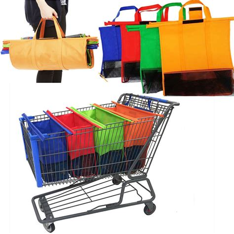 Trolley Eco Bag reusable shopping trolley bags set of 4 changing