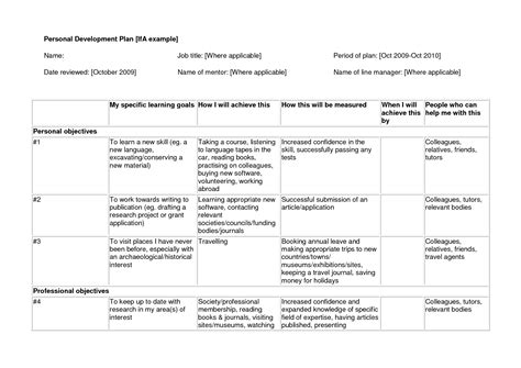 educational development plan template best photos of individual work plan personal development