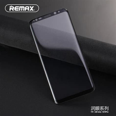 Remax 3d 9h Tempered Glass With Tpu For Samsung Galaxy S8 Samsu remax glass 3d 9h tempered glass with tpu for samsung galaxy s8 black