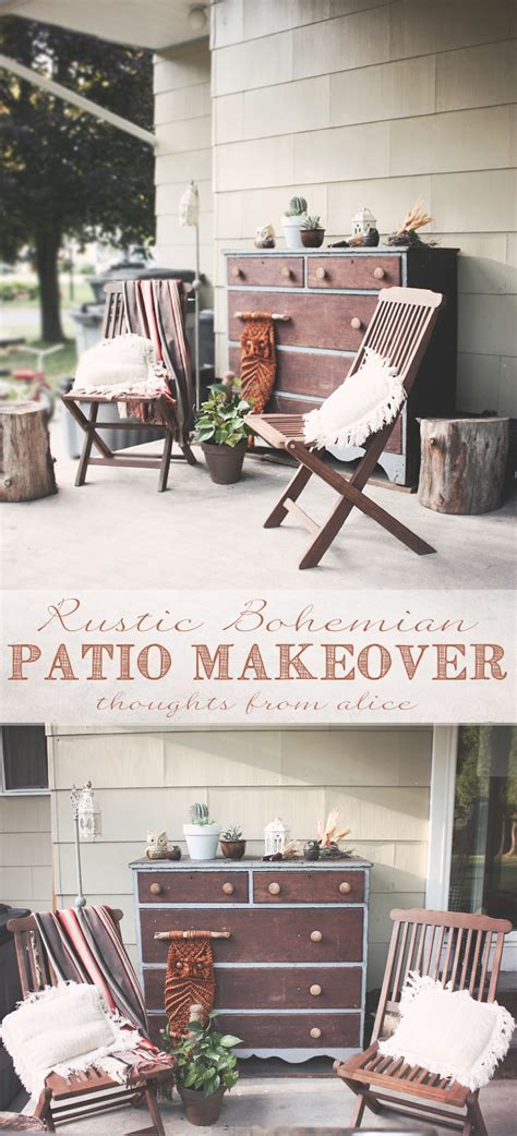Livingroom End Tables rustic bohemian patio makeover