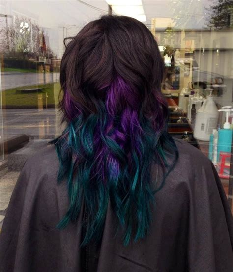 samms peacock inspired purple  teal color melt