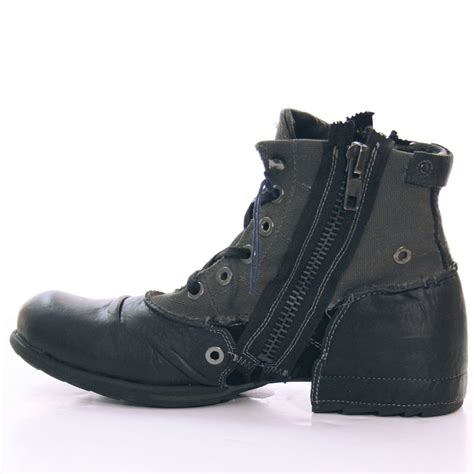 s new replay clutch leather winter boots in black ebay