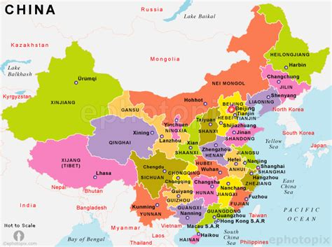 political map of china with cities china province color map china political map china state map