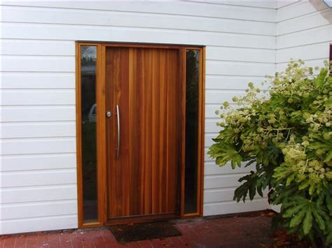 Cedar Front Door by Building Photos Chamberlain Carpentry And Joinery