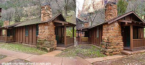 historic cabins being restored at zion national park st