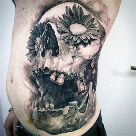 stomach flower tattoo designs top 100 best stomach tattoos for masculine ideas