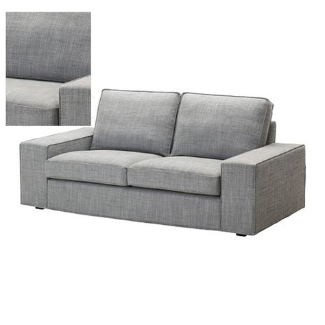 gray sofa slipcover ikea kivik 2 seat loveseat sofa slipcover cover isunda