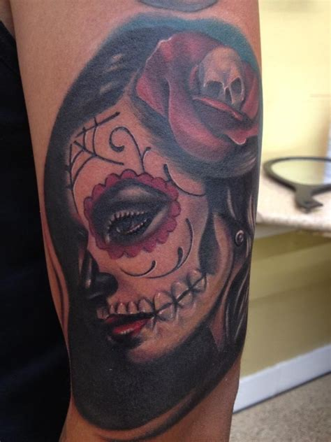tattoo eyeliner lubbock tx new tat dia de la muerte girl tattoo done by mike diaz