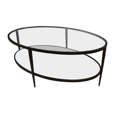 crate and barrel glass coffee table 50 off crate barrel crate barrel clairmont glass