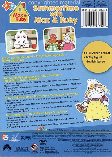 everybunny count books max ruby summertime with max ruby